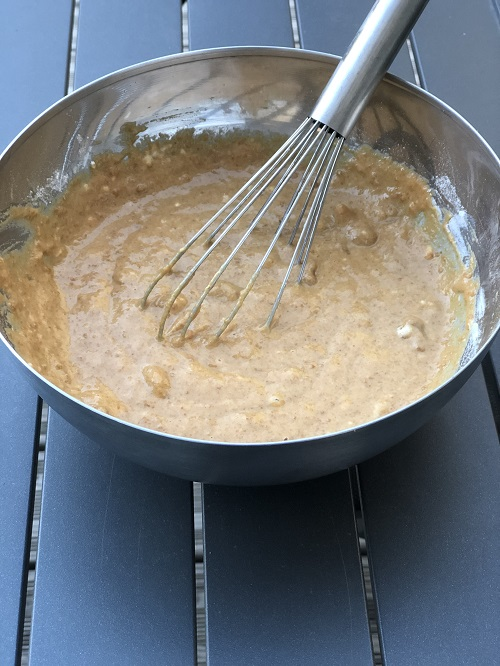 préparation de la pâte à gâteau