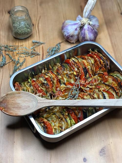 tian de légumes cuit